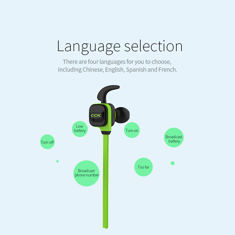Bluedio CCK KS Sports Wireless bluetooth Earphone Noise Cancelling Stereo Headphone with Mic