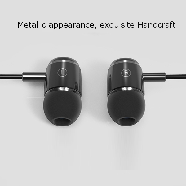 WRZ-M1 Bass HIFI Earphone With Microphone In-ear Metal Headphone For iPhone iPad Samsung Xiaomi