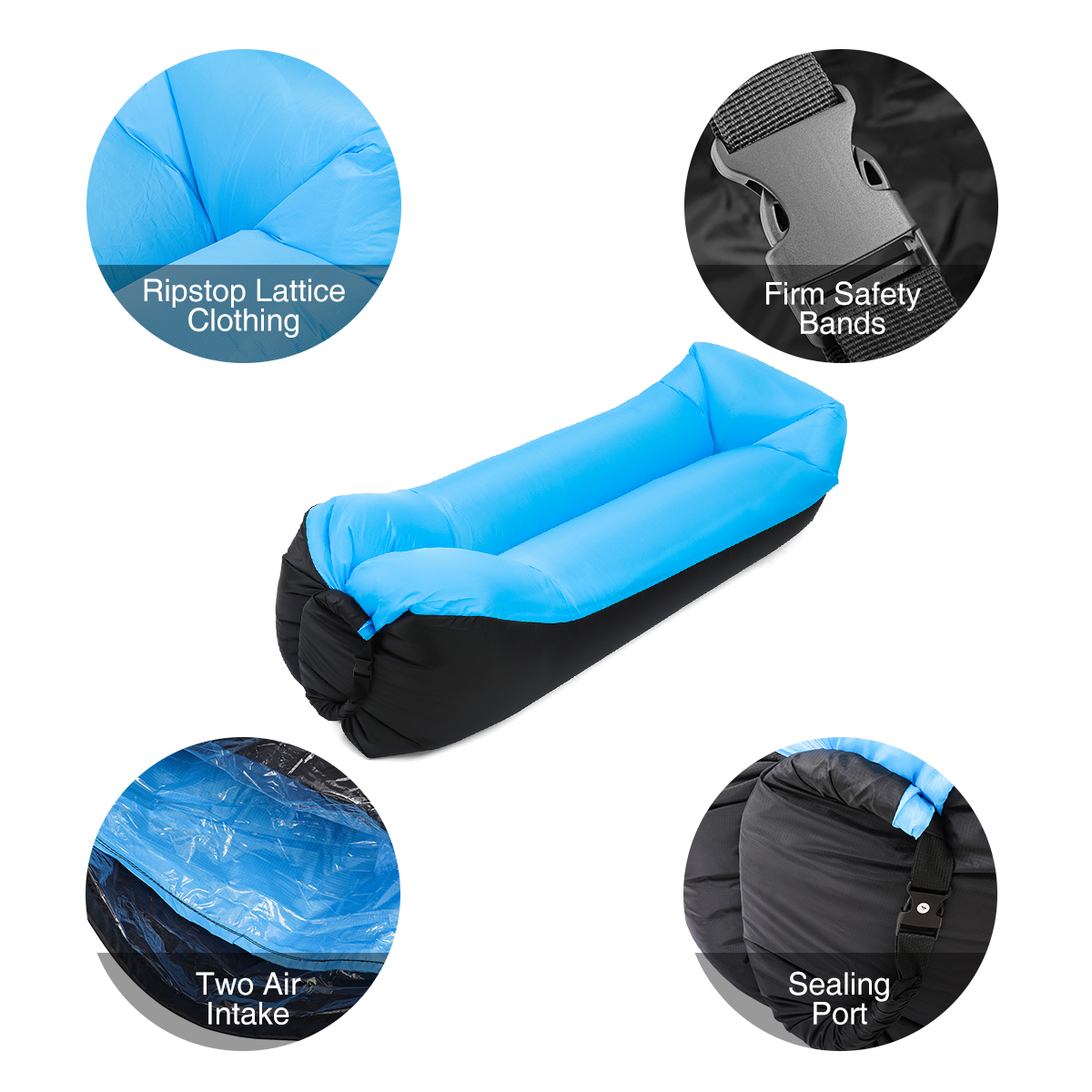 Camping & Hiking Outdoor Air Sofa Shaking Fast Inflatable Portable Travel Small Pocket Sofa Large Assortment