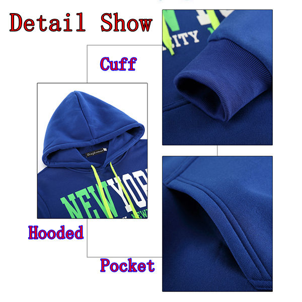 Fashion Casual Slim Sports Hooded Hoodies Mens Letters Printed Sweatshirts