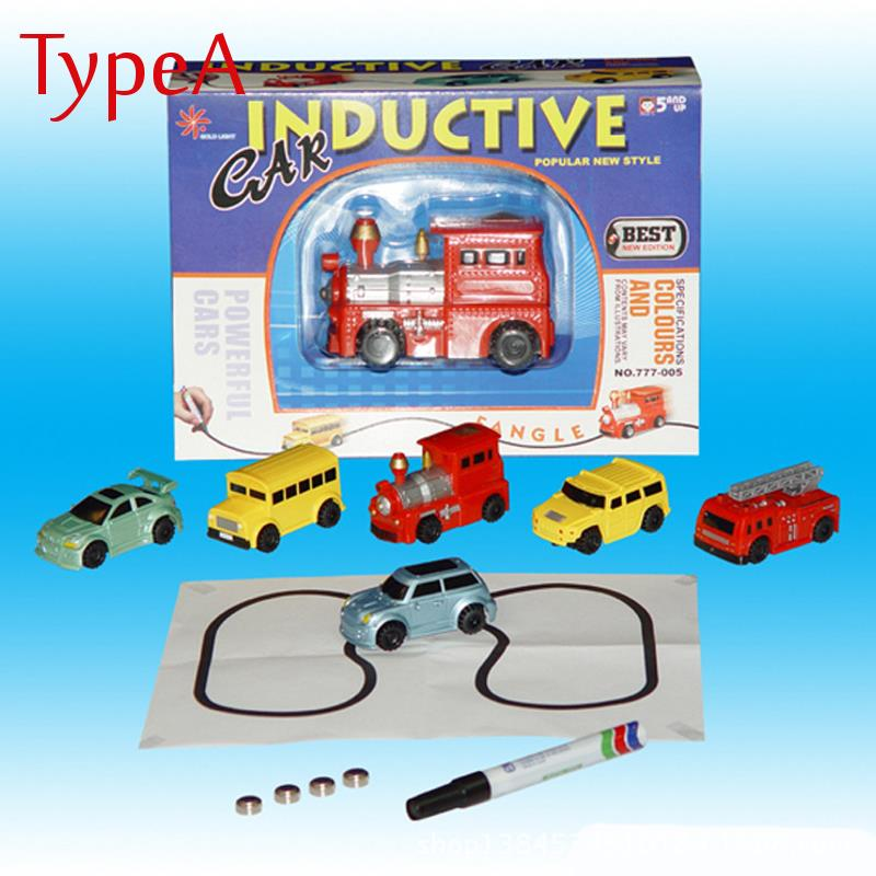Mini Automatic Induction Magic Truck Car Line Following With Pen Kids Children Christmas Gift Toys