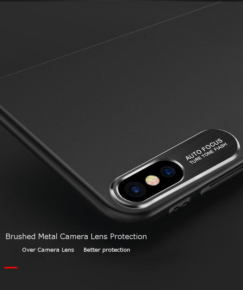 Bakeey Metal Camera Lens Protection Hard PC Matte Protective Case for iPhone X