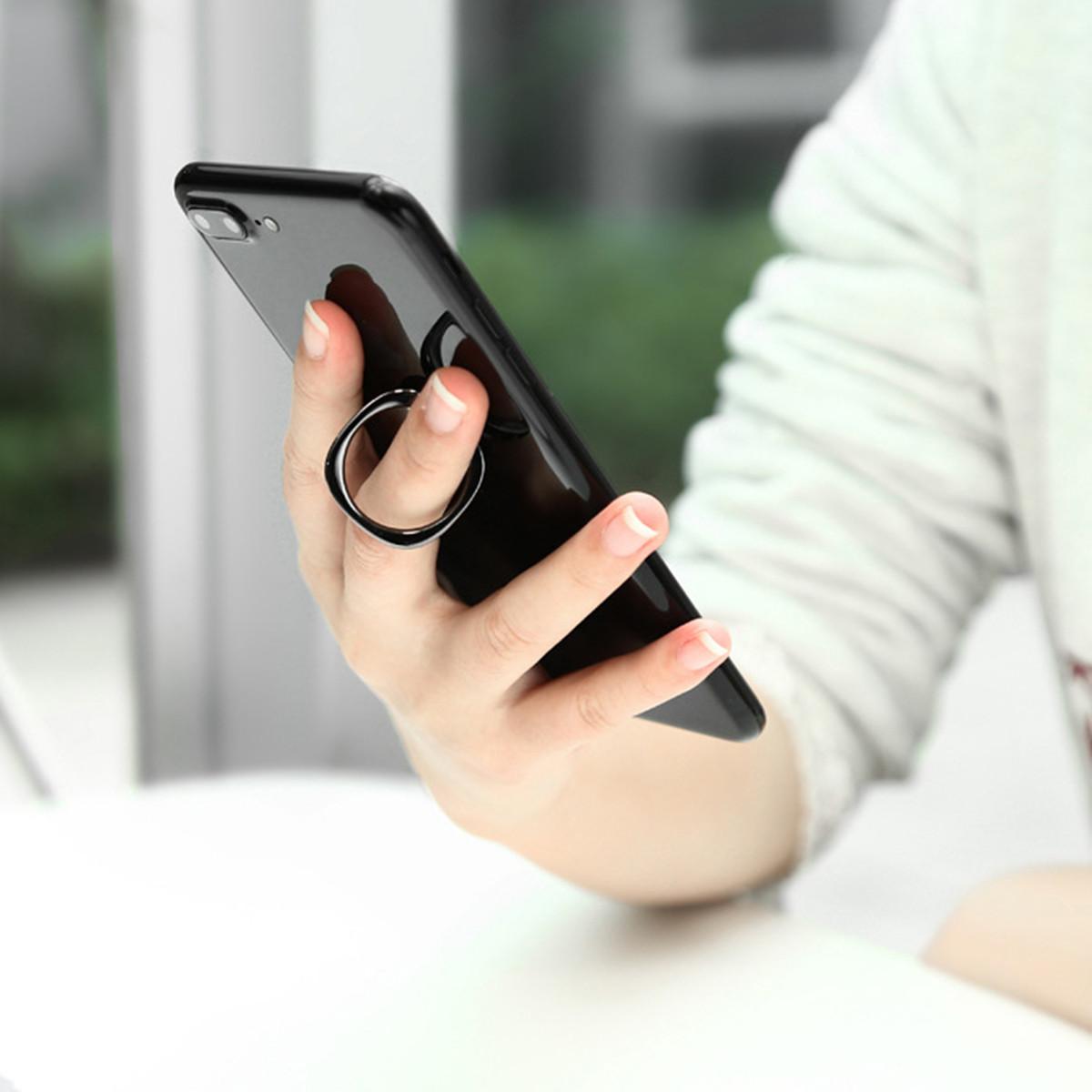 Baseus Magnetic Finger Ring Holder Mobile Phone Stand Car Mount Desktop Bracket for iPhone Samsung