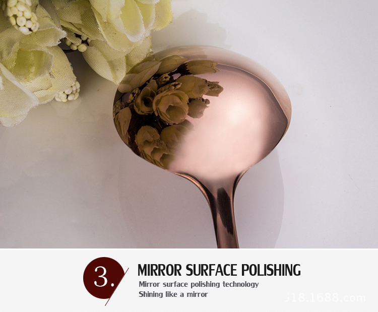 KCASA™ Stainless Steel Rosy Gold Western Food Dinnerware Cutlery Fork Knife & Spoons Tableware Set
