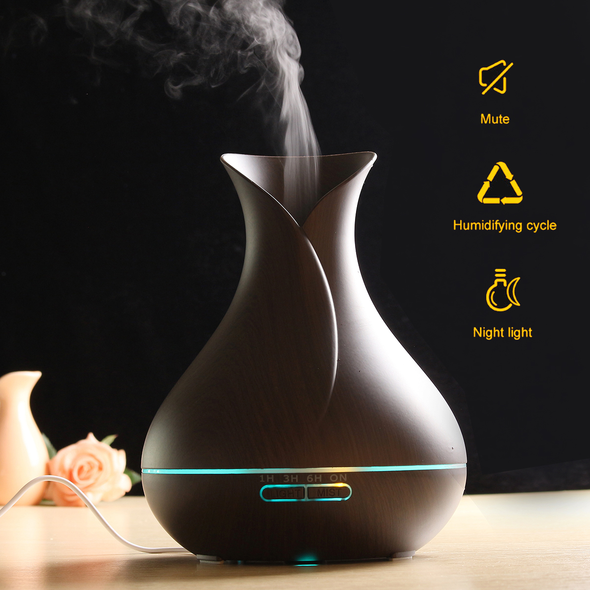 Air Humidifier Aroma Aromatherapy Diffusers Remote Control