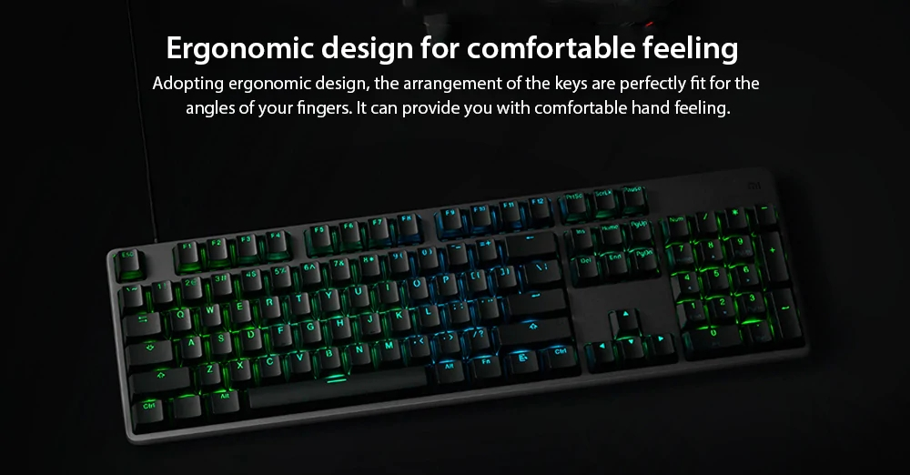 Xiaomi RGB Backlight 104Keys Gaming Keyboard Aluminum Alloy USB Wired Keyboard