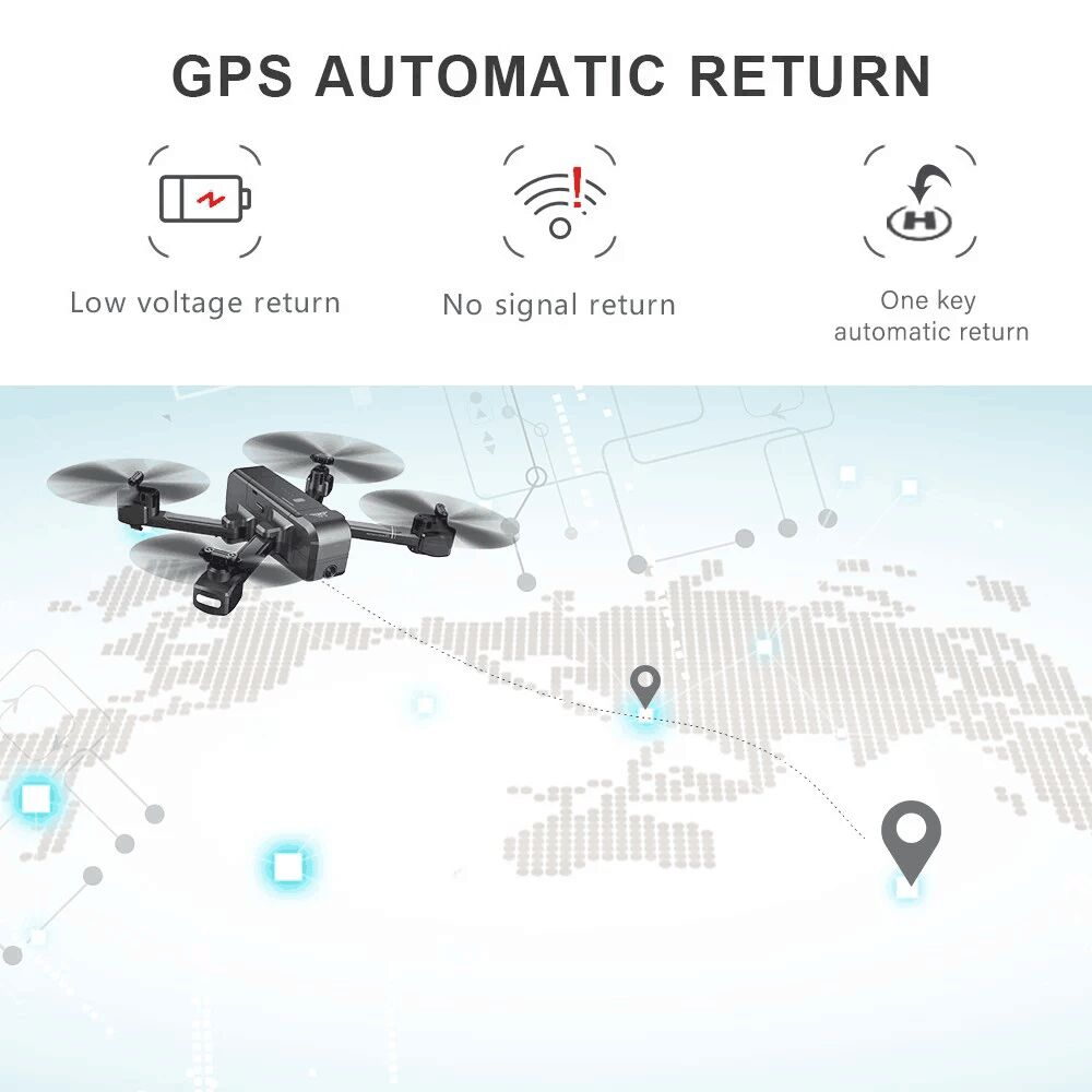 SJRC Z5 5G Wifi FPV With 1080P Camera Double GPS Dynamic Follow RC Drone Quadcopter