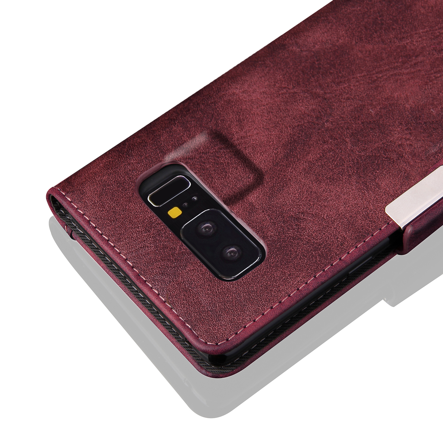 Flip Card Slot Bracket Magnetic PU Leather Case for Samsung Galaxy Note 8