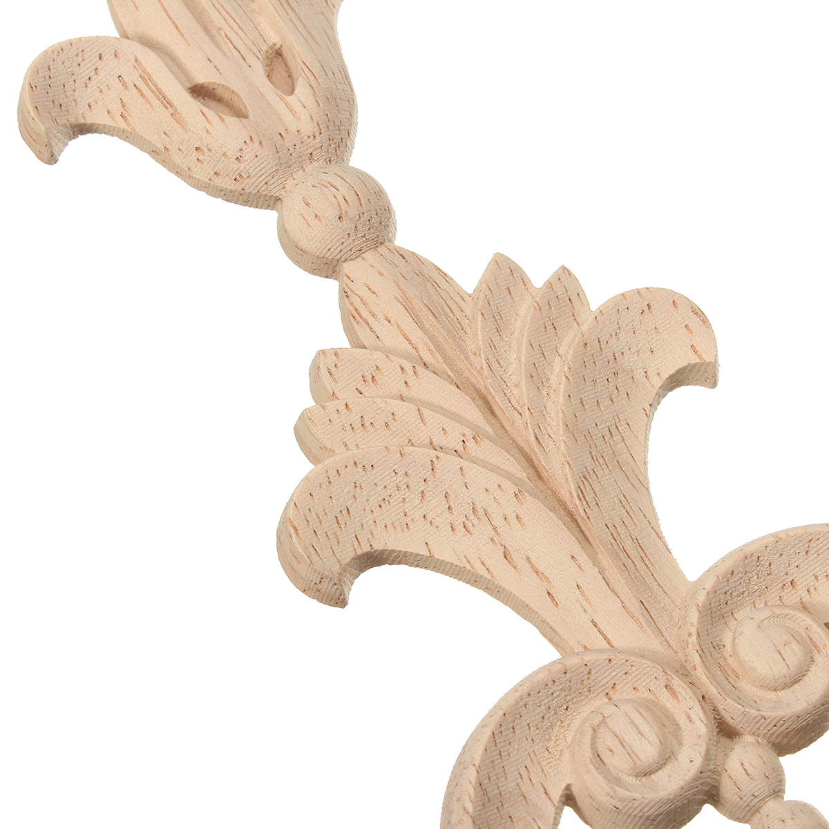 Wood Carved Applique Frame Onlay Furniture Decoration Unpainted 360x70x8mm