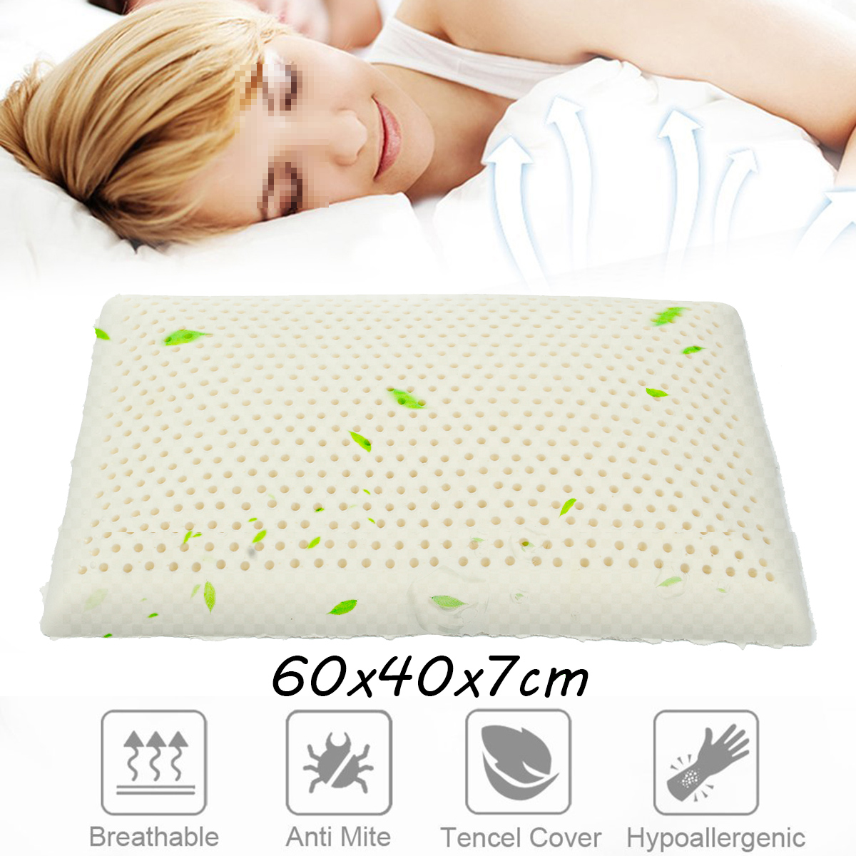 Natural Standard Latex Pillow Neck Pain and Fatigue Relief