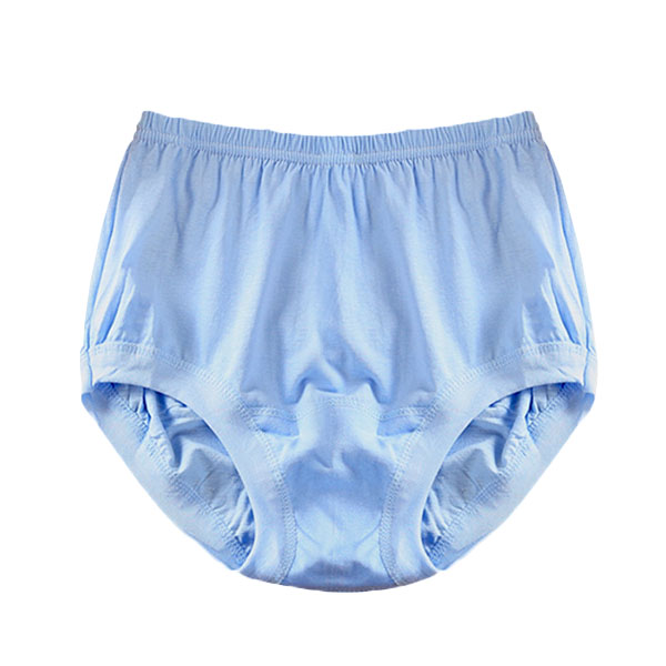 Mens High Waist Breathable Comfortable Solid Color Cotton Triangle Underwear