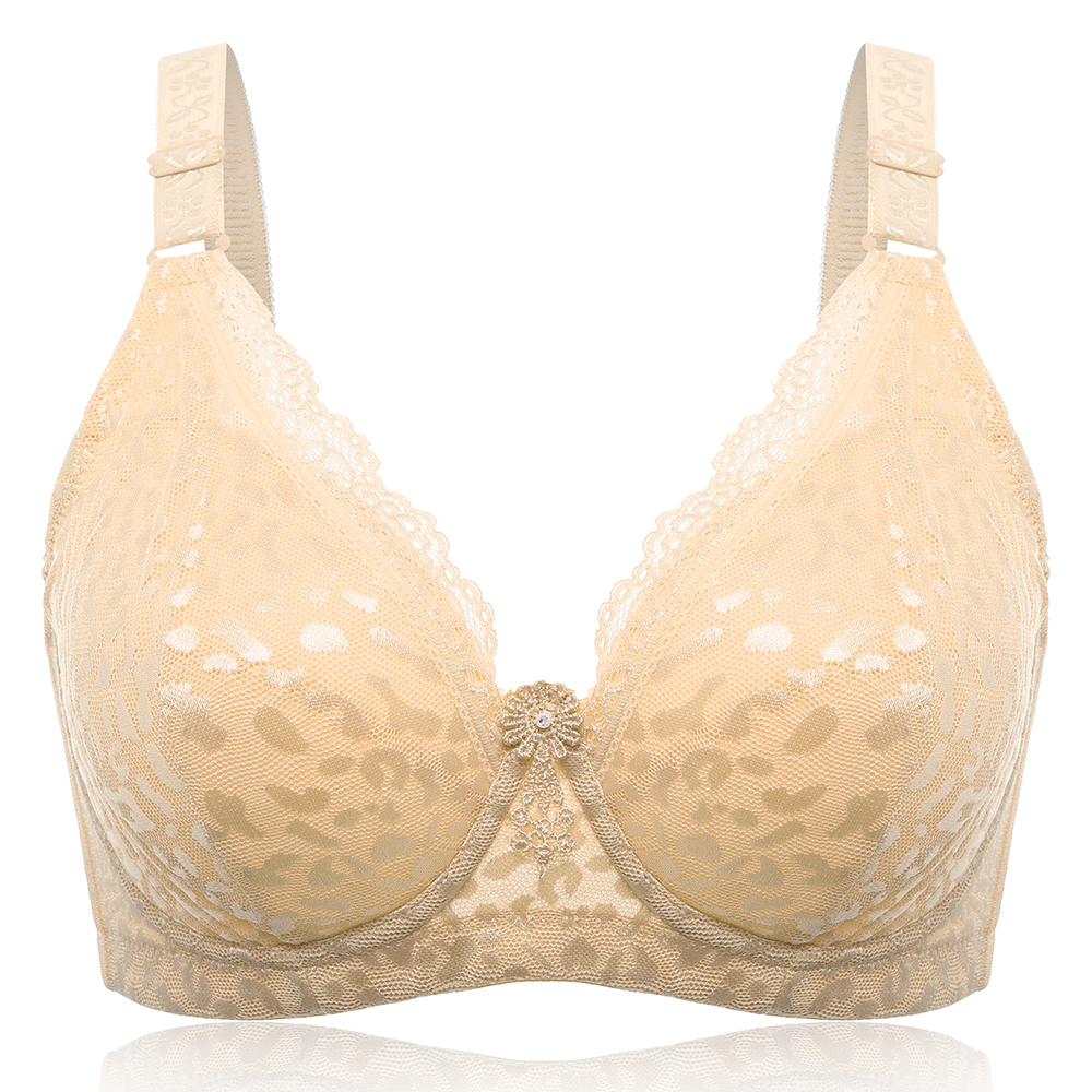 Plus Size Full Cup Busty Underwire Push Up Gather Bra