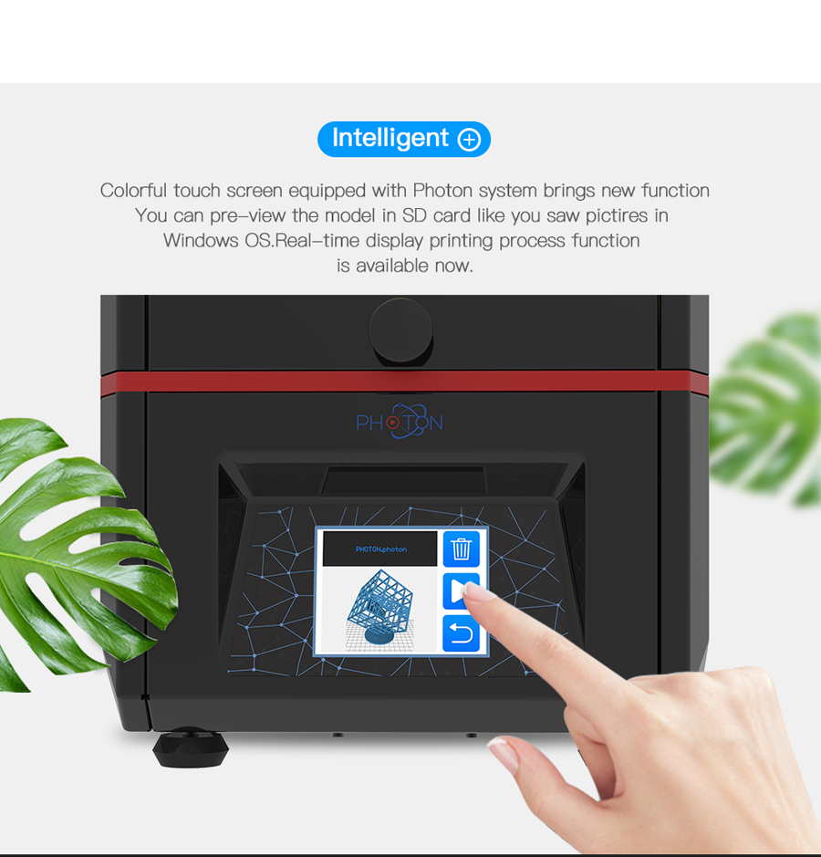 Anycubic® Photon UV Resin SLA/DLP 3D Printer 115x65x155mm Printing Size With 2.8-inch Touch Screen/Off-line Printing