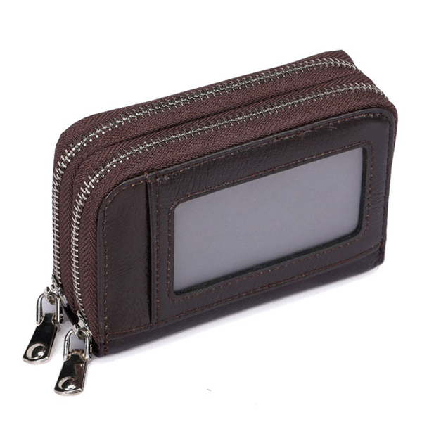 Genuine Leather Double Layers 11 Card Slots Card Holder