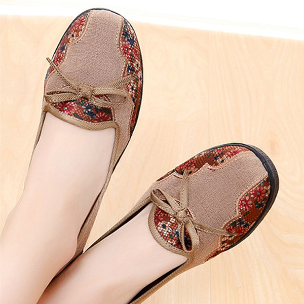 Flat Shoes Women Flower Casual Soft Outdoor Loafers