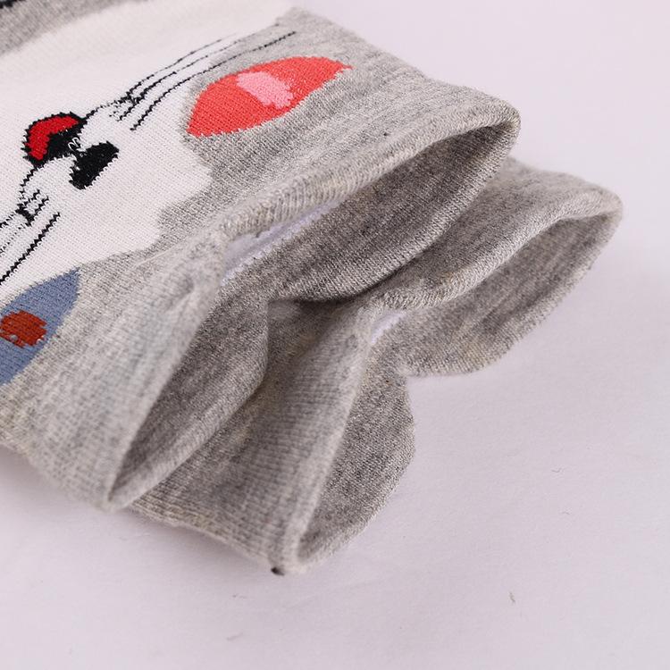 Women Cartoon Cat Cotton Warm Middle Tube Socks