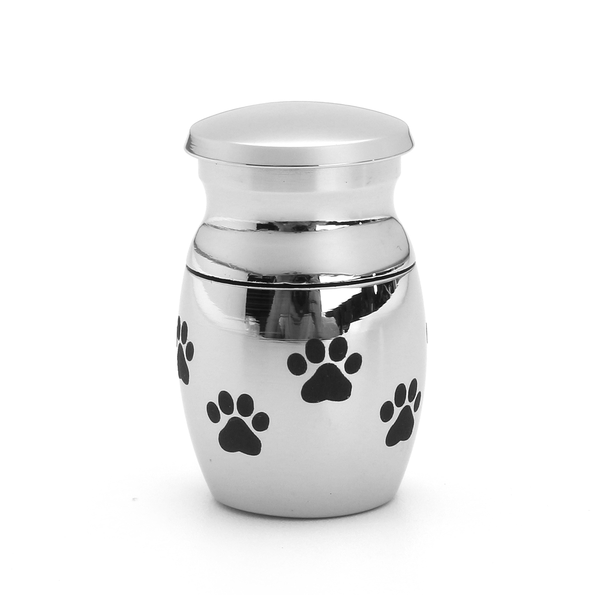 Stainless Steel Pet Memorial Dog Cat Mini Pet Cremation Urn Puppy Paw Print