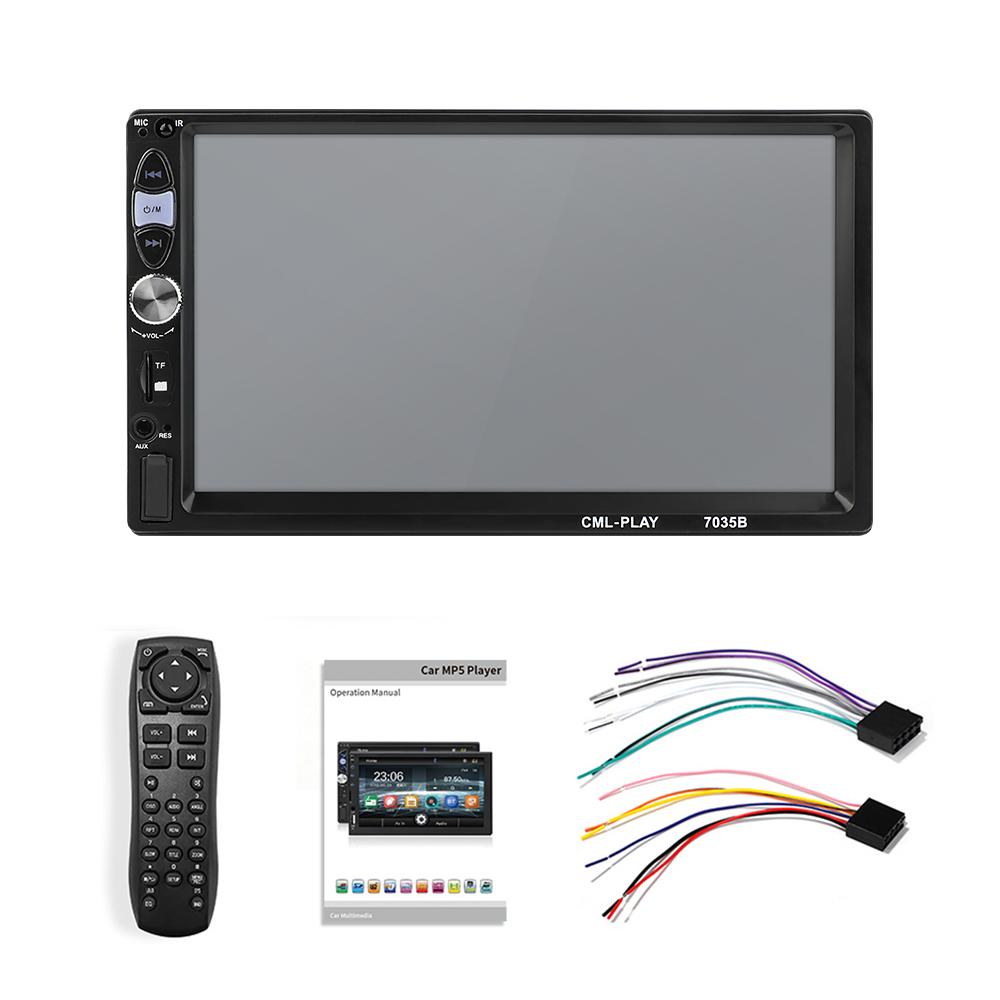 7 Inch 2 DIN Dynamic Background Car Radio Stereo MP5 Player USB+AUX In-Dash FM HD bluetooth