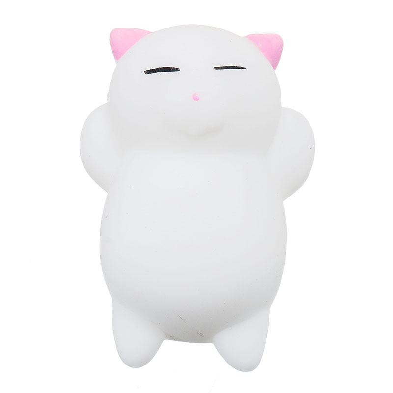 Pink Cat Kitten Squishy Squeeze Cute Healing Toy Kawaii Collection Stress Reliever Gift Decor