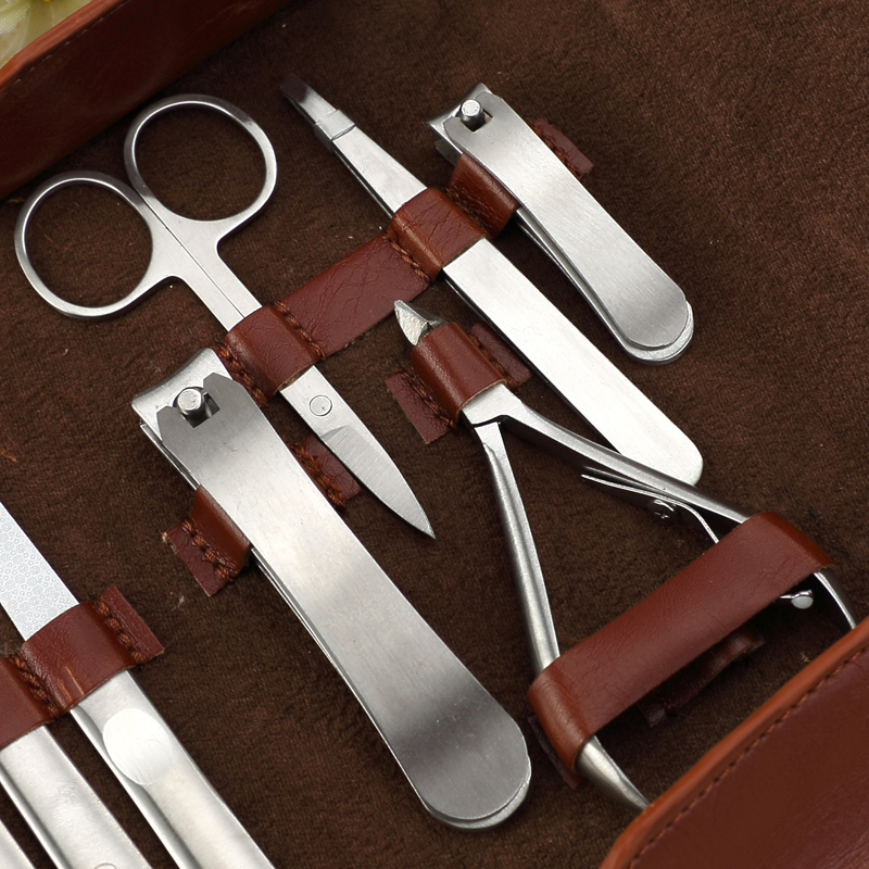 Y.F.M® 10pcs Stainless Steel Ingrown Toe Nail Clippers Nipper Manicure Tools Set Kit Pusher Cleaner File