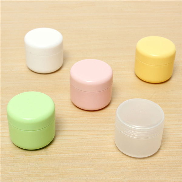 Face Cream Container Portable Cosmetic Empty Jar Makeup Plastic Bottle Facial Travel 50g