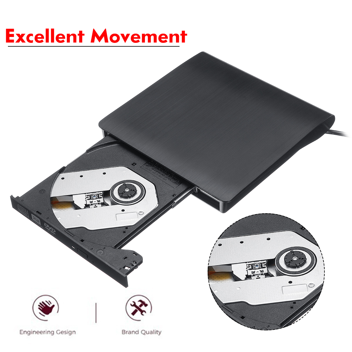 USB 3.0 External DVD-RW Optical Drive CD/DVD Player for PC Notebook