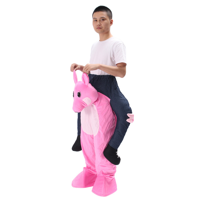 Halloween Carry Me Back Ride On Mascot Costume Animals Party Fancy Dress Adult