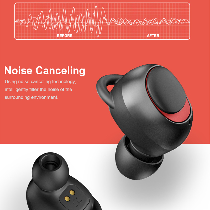 [Bluetooth 5.0] Bakeey TWS Earphone Noise Cancelling Auto Pairing 2000mAh Phone Charger Box 9