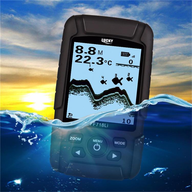 LUCKY FF718Li Wired Wireless Interchangeable Fish Finder 328ft/100m Depth Sonar Echoing Fish Locator
