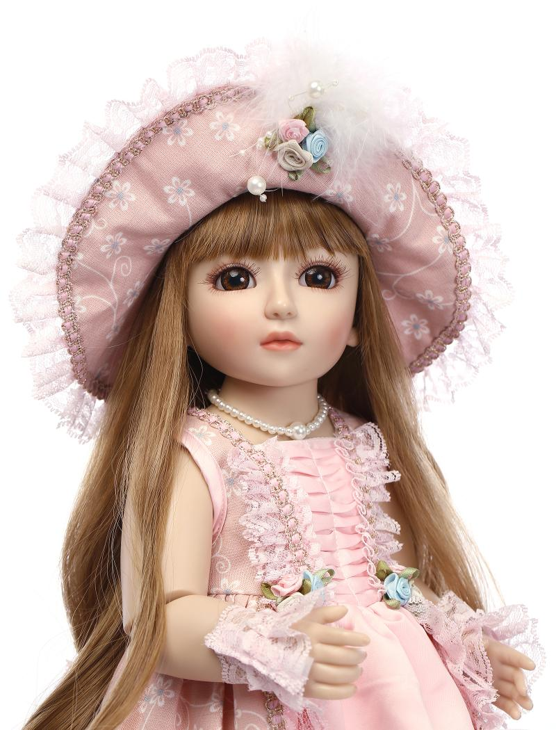 BJD Doll Classical Victoria Girl Handmade Realistic Aesthetic Joints Connected 1/4 Vinyl Doll