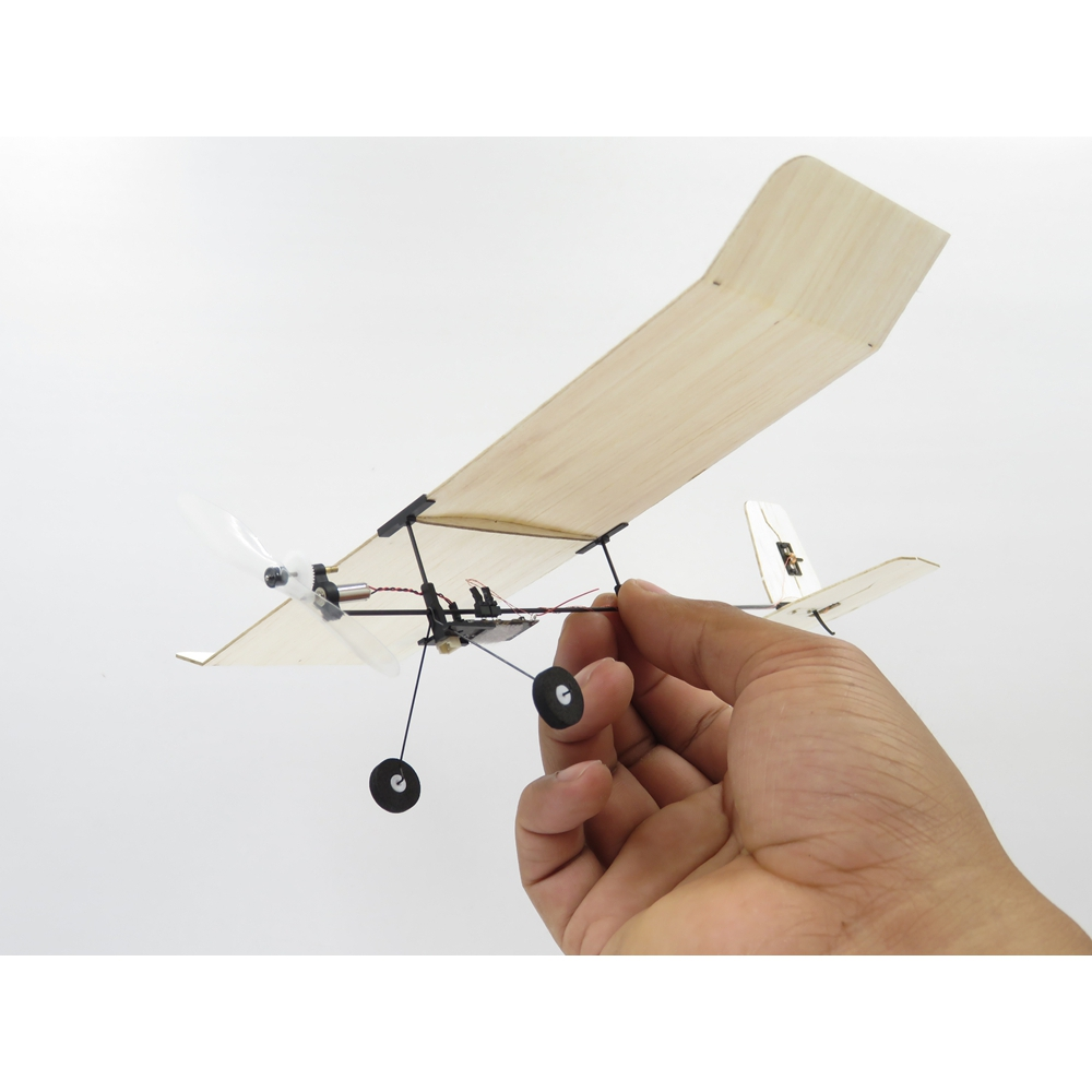 Tygzs M1 Wingspan 232mm 4CH DSM2 Ultra Light Indoor Mini RC Airplane BNF With 3.7V LiPo