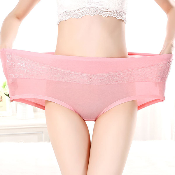 Women Super Elastic Hip Lifting High Rise Comfy Crocheted Lace Panties