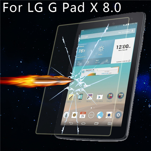 Explosion HD Proof Tempered Glass Screen Protector Film For LG G Pad X 8.0 Tablet