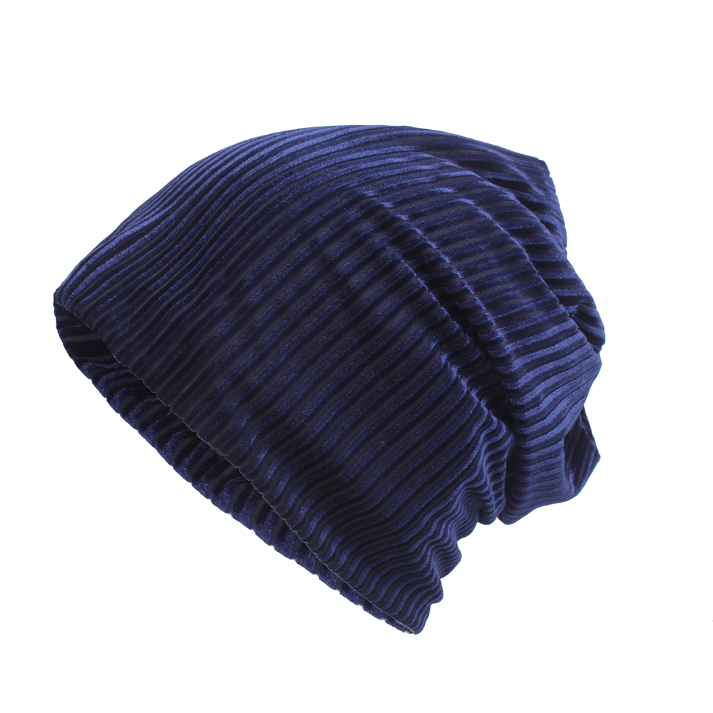 Fashion Winter Earmuffs Corduroy Beanie Hat Skull Cap