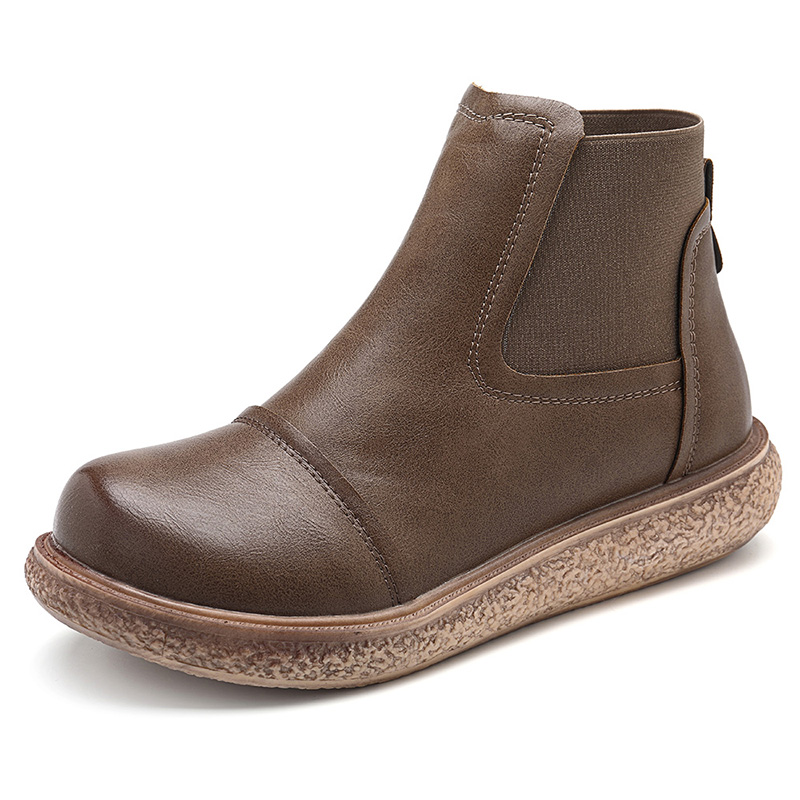 Casual Comfortable Round Toe Ankle Boots