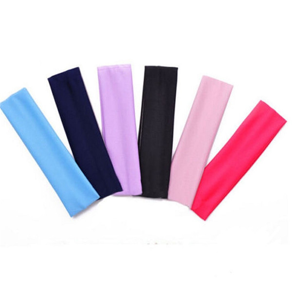Plain Yoga Headband Solid Elastic Stretch Wide Wrap Sports Hair Band 6 Colors