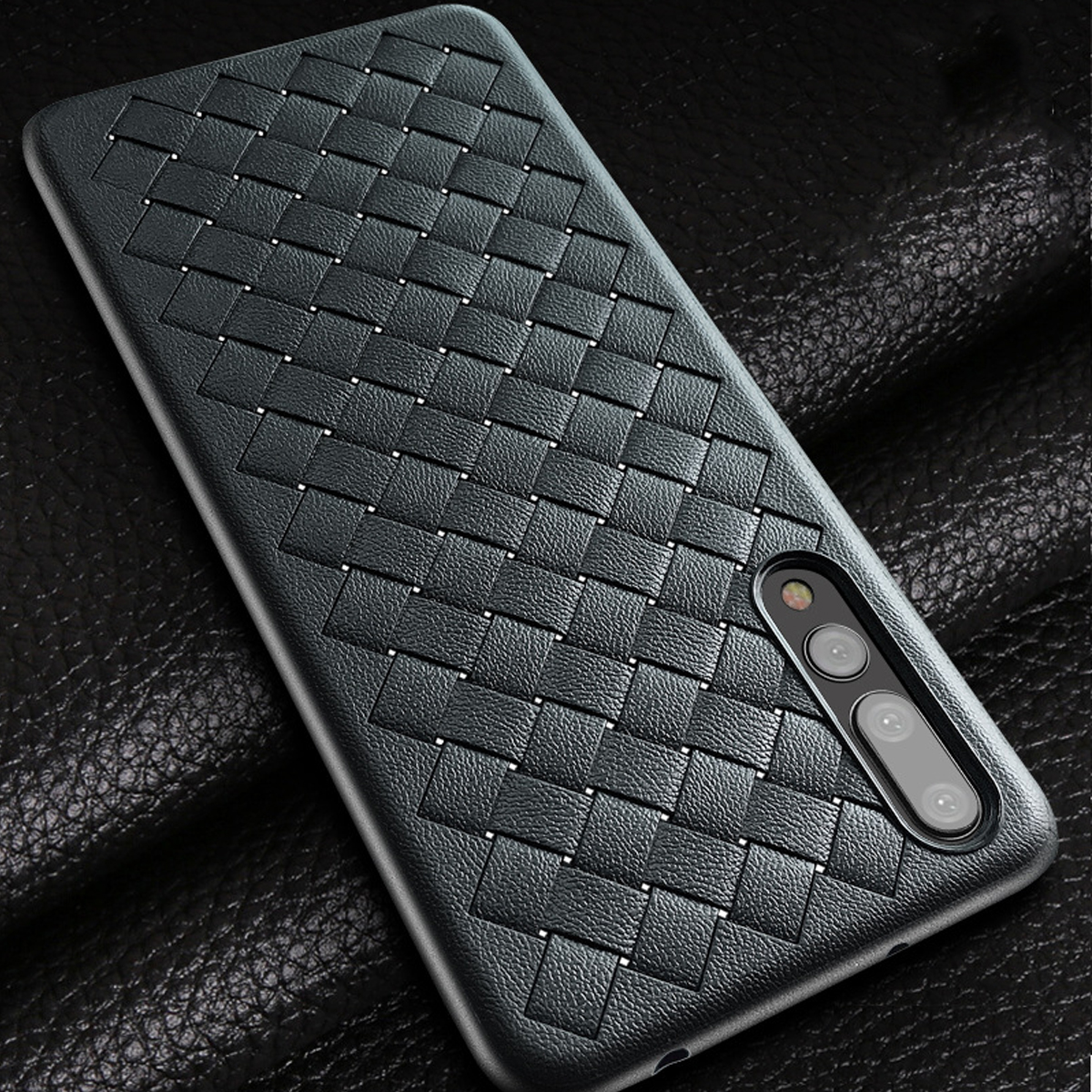 Luxury Weave Pattern Anti-Fingerprint Soft Silicone Protective Case For Huawei P20 Pro