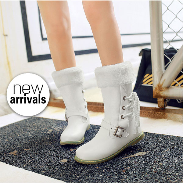 US Size 5-21 Winter Women Keep Warm Big Size Casual Outdoor Plush Snow Boots