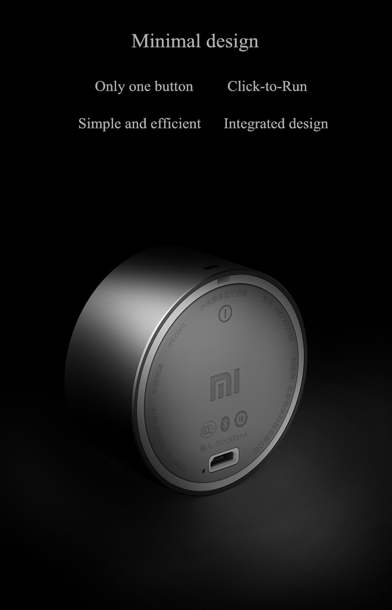 Original Xiaomi Aluminum Alloy Portable Mini Bluetooth Speaker For Cell Phone Tablet