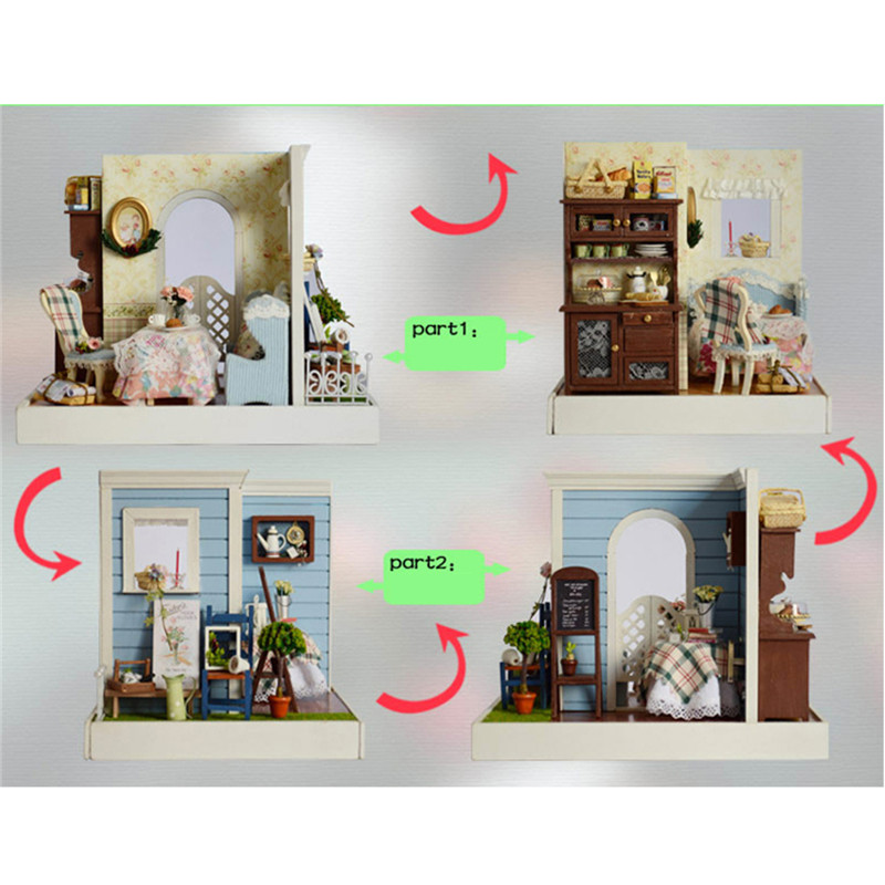 CUTE ROOM DIY Dollhouse Handicraft Doll House Mary's Sweet Baking Miniature Kit Gift
