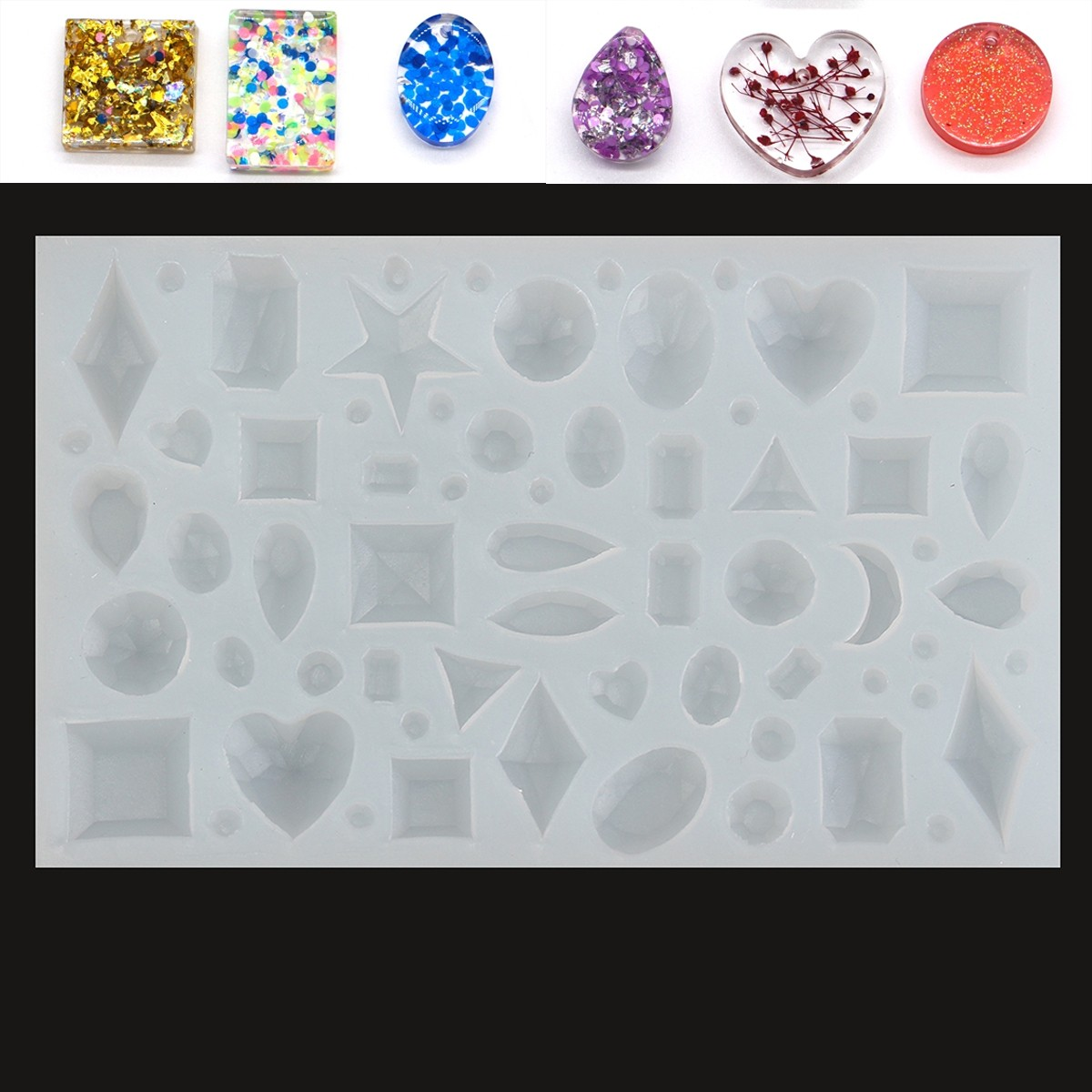 Silicone Mold DIY Pendant Craft Mould Decoration Design Gift Jewelry Tools