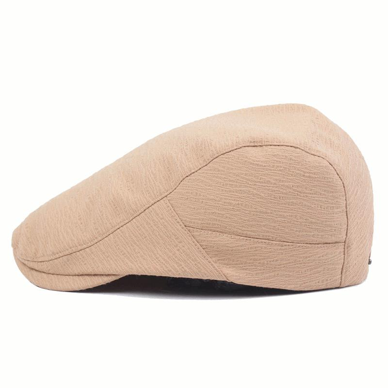 Mens Women Cotton Washed Folded Beret Hat Casual Visor Golf Gentleman Peaked Cap
