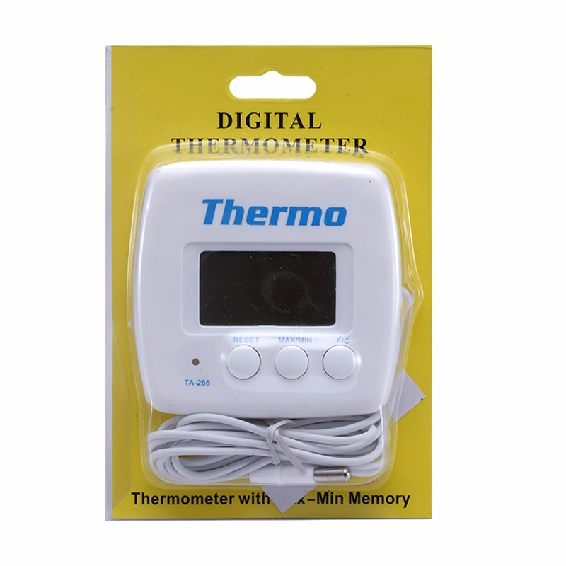TA268A Digital Refrigerator Aquarium Kitchen Thermometer Electronic Temperature Meter with Sensor Probe