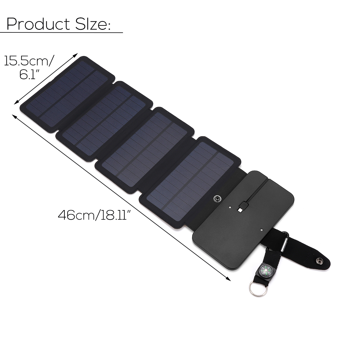 6W Portable Foldable Solar Panel Power Charger For Phone MP3/MP4/PDA Power Bank