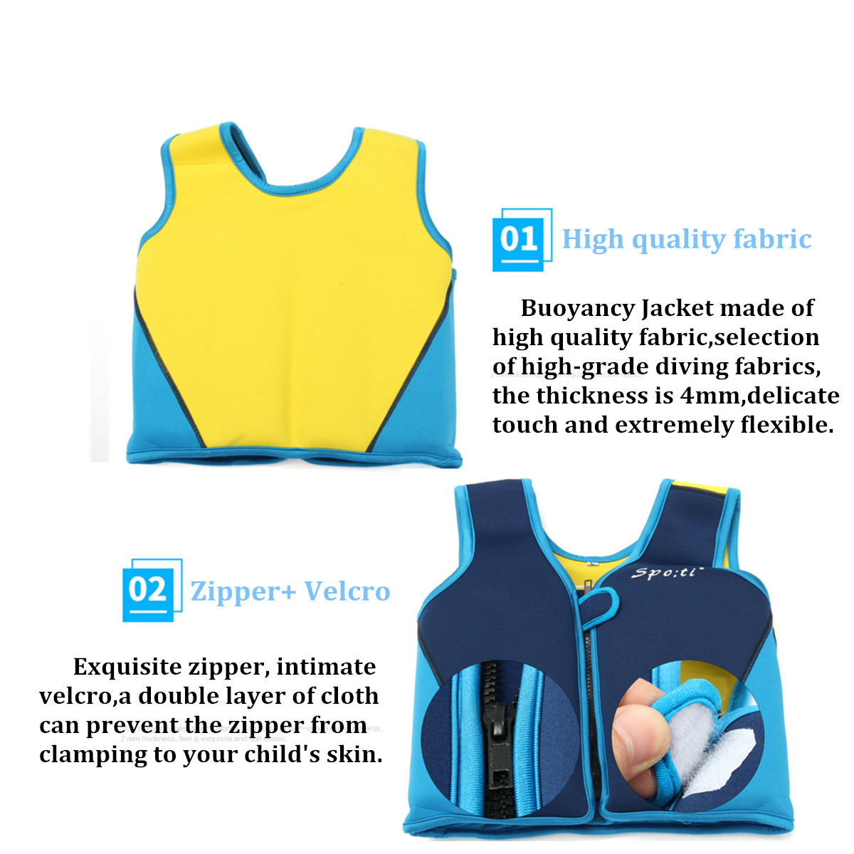 Children's Life Jacket Baby Vest Buoyancy Swimsuit Pool Accessories For Kids Child Swim Training