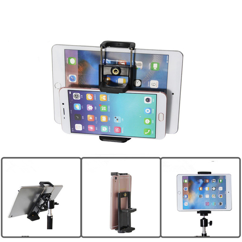 Bakeey Universal Mobile Phone Ipad Tripod Mount Clip Bracket Holder For Tripod Selfie Stick