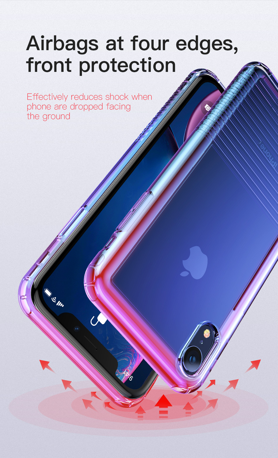 Baseus Protective Case For iPhone XR Plating Airbag Corners Soft TPU Back Cover