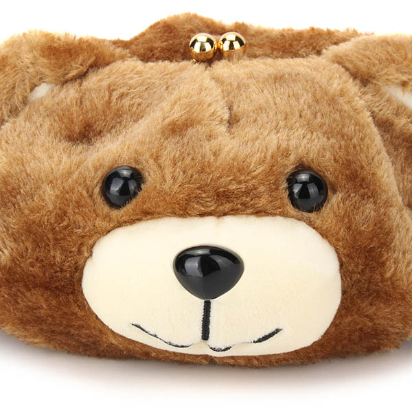 Women Cute Bear Bags Girls Cartoon Chain Shoulder Bags Crossbody Bags