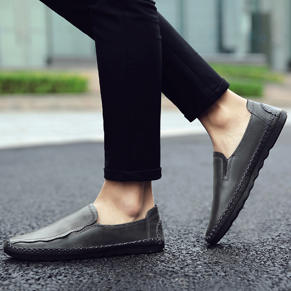 Men Casual Business Handmade Soft Sole Flat Loafers