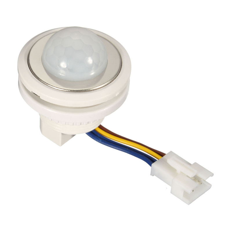 1pcs 40mm Highly Sensitive Pir Infrared Ray Motion Sensor Switch Time Delay Adjustable Mode Detector Switching Lighting Accessories Lights & Lighting